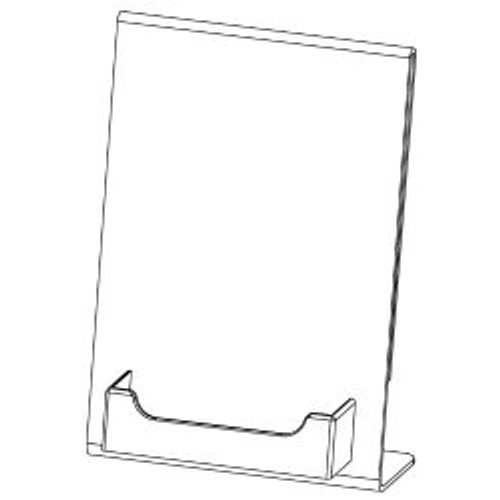 "5""w x 7""h Acrylic sign holder w/Business card pocket"