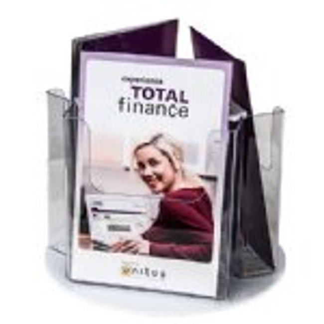 5x8 Rotating Brochure Holder 3 Pockets
