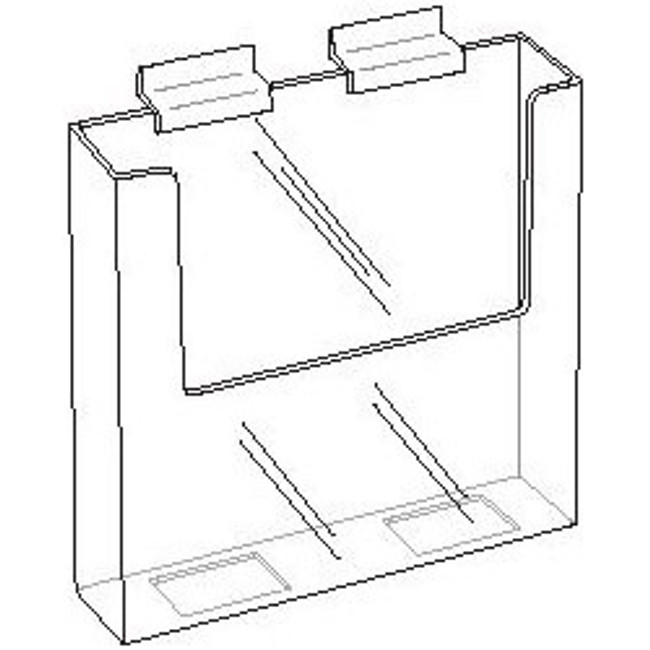 7.5 Wide Clear Acrylic Slatwall Brochure Holder