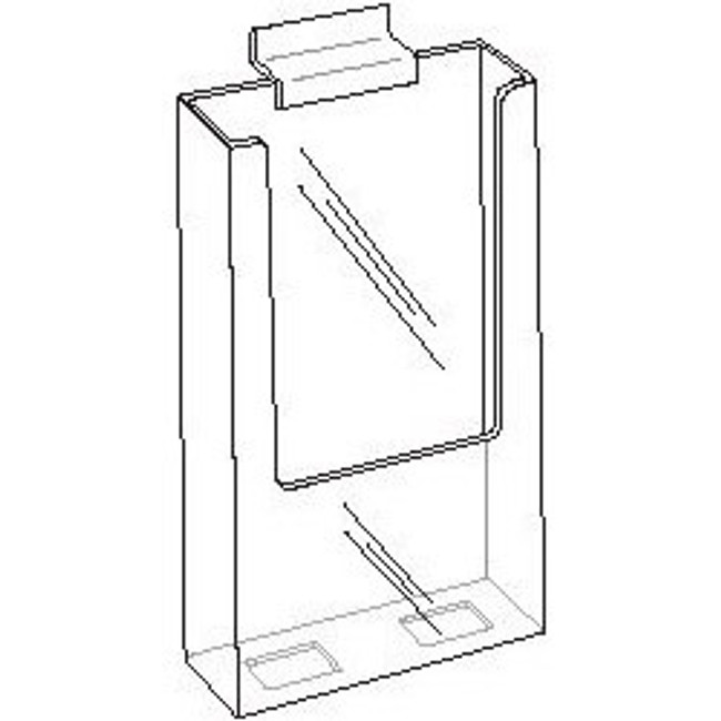 4x9 Clear Acrylic Slatwall Brochure Holder