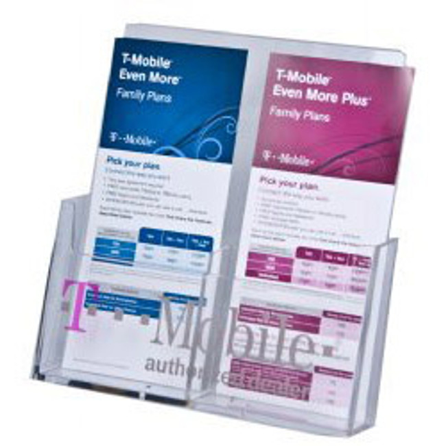4x9 Wall Mount Brochure Holder-Two Pockets