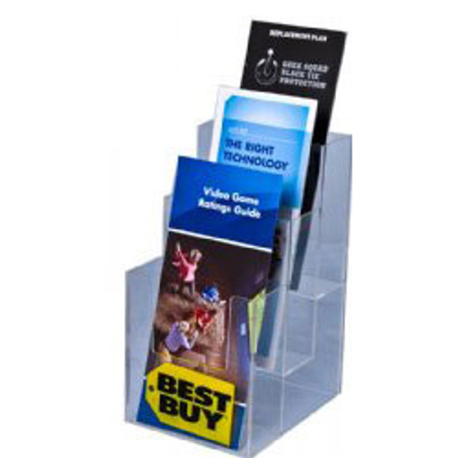 4x9 Three Pocket Three Tier Brochure Holder