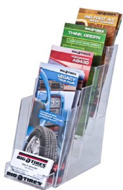 4x9 Brochure Holder 4 Tiers with BC Pocket