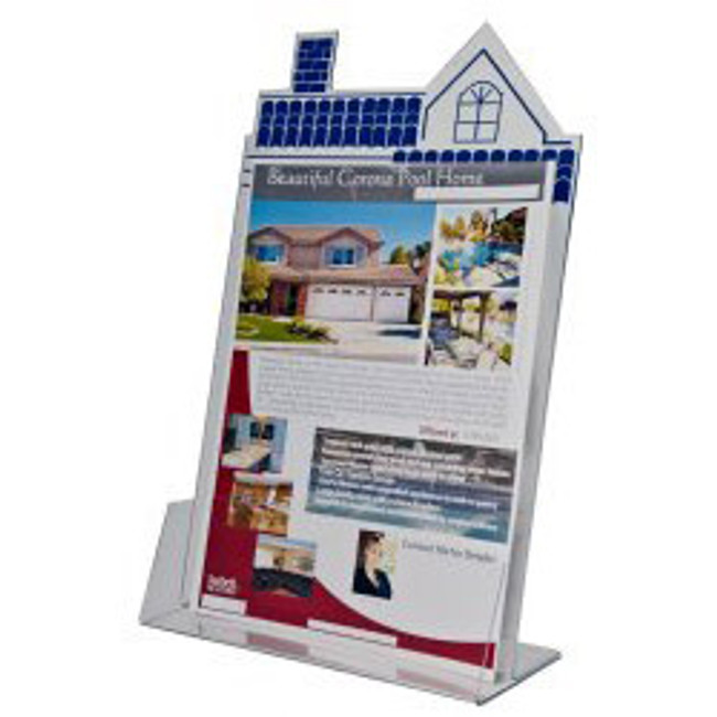 8.5x11 House Shape Brochure Holder DS-HSE-8511