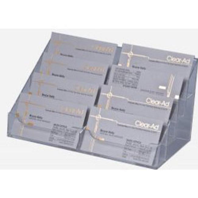 8 Pocket Clear Acrylic Business Card Holder