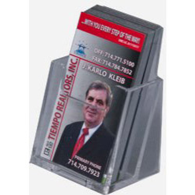 Clear Acrylic Vertical Business Card Holder