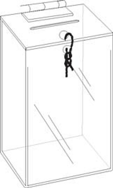 3x3x5 Zip Tie Lock Coin Box