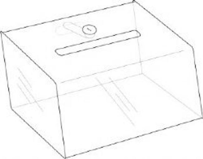5x3x3 Locking Clear Coin Box