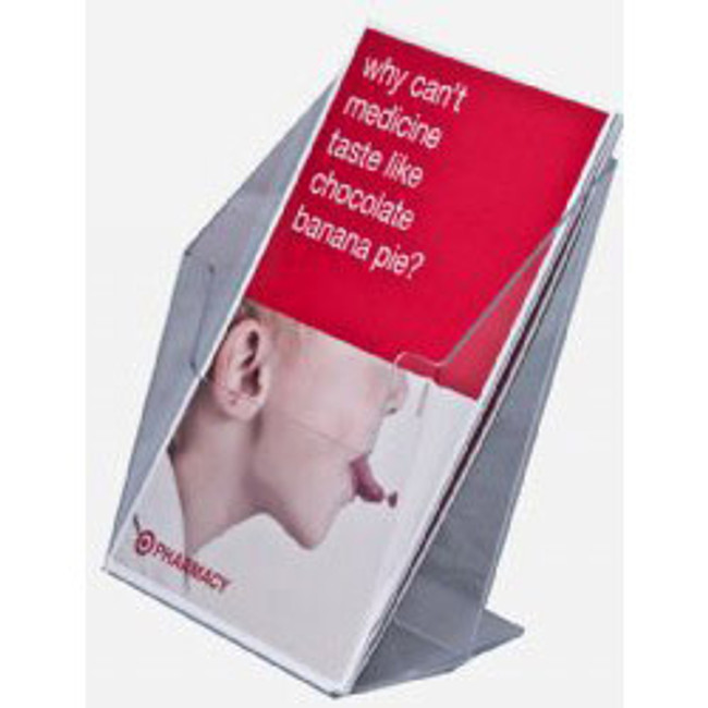 5.5 Wide Clear Acrylic Brochure Holder