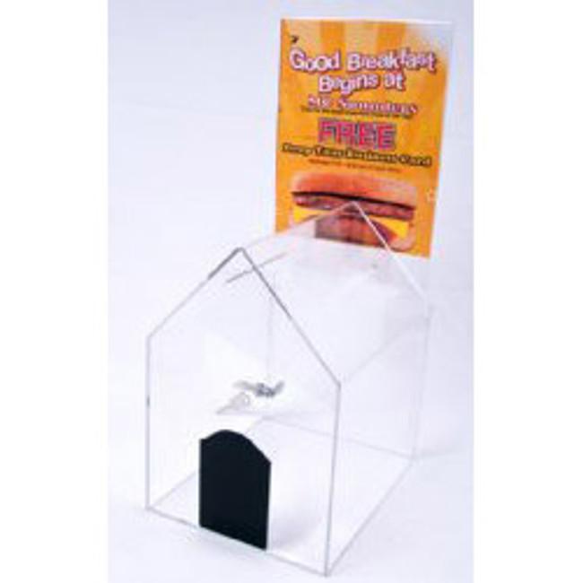 6x8x9 Locking House Shaped Ballot Box
