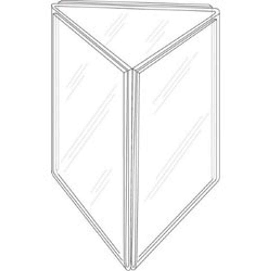 8.5x11 Three-Panel Sign Holder