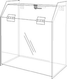 9.5x5x10 Locking Ballot Box