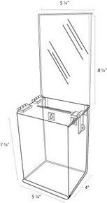 5x4x7 Locking Ballot Box