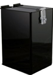 6x5x9 Black Locking Ballot Box