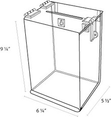 6x5x9 Clear Acrylic Locking Ballot Box