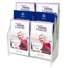5.5 Wide Half Page Brochure Holder 6 Pockets