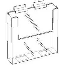 8.5 Wide Clear Acrylic Slatwall Brochure Holder