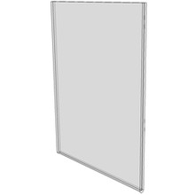 8.5x11 Wall Mount Sign Holder No Holes