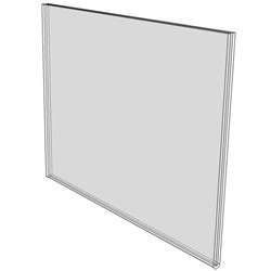 11x8.5 Wall Mount Sign Holder No Holes