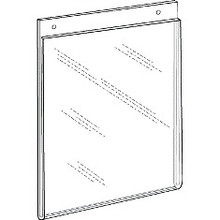 8.5x11 Portrait Wall Mount Sign Holder With Holes DS-LHP-8511