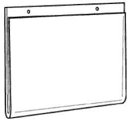 14x11 clear plastic wall mount ad frame ds lhp 1411