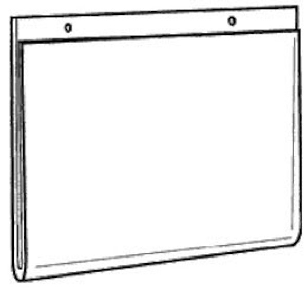 11x8 5 wall mount sign holder with holes ds lhp 1185 buy acrylic displays. Black Bedroom Furniture Sets. Home Design Ideas