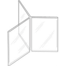 5x7 Clear Plastic Three-Panel Six-Sided Sign Holder