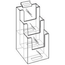 4x9 Three Tier Slat wall Brochure Holder