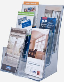 8.5x11 Full Page 3 Tiers Brochure Holder
