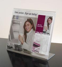 8.5x11 Full View Sign Holder with Brochure Pocket