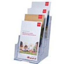 6.25 Wide Counter or Wall 4 Tier Brochure Holder