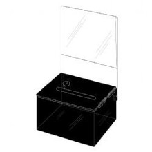 5.25x3.25x4.25 Black Plastic Locking Box with Header DS-SBB-534-BLK