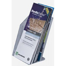 4x9 Clear Acrylic Brochure Holder with 3 inch depth