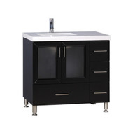 "Design Element Westfield 36"" Single Sink Vanity in Espresso"