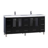 "Design Element Westfield 72"" Double Sink Vanity in Espresso"