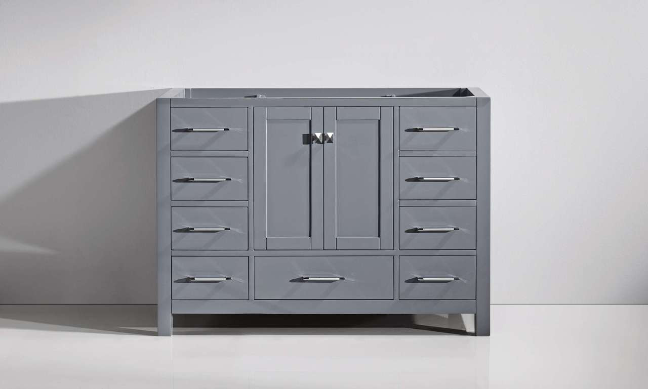 "Virtu USA Caroline Avenue 48"" Single Bathroom Vanity Cabinet in Grey"