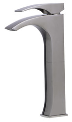 LFI brand AB1587 Tall Brushed Nickel Single Lever Bathroom Faucet