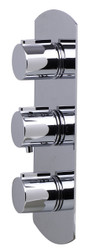 ALFI brand AB4001-PC Polished Chrome Concealed 3-Way Thermostatic Valve Shower Mixer Round Knobs