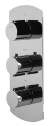 ALFI brand AB4101-PC Polished Chrome Concealed 4-Way Thermostatic Valve Shower Mixer /w Round Knobs (AB4101-PC)