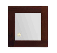 Whitehaus AMET01 Antonio Miro Square Mirror with Wood Frame and Built in Clock.