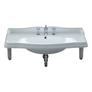 Whitehaus AR864-MNSLEN-3H Large Rectangular Bathroom Sink with Three Faucet Hole (AR864-MNSLEN-3H).