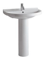 Whitehaus LU014-LU005 China U-Shaped Pedestal Sink (LU014-LU005-1H)