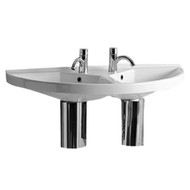Whitehaus LU020 China Series Large U-Shaped Double Basin (LU020)