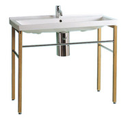 Whitehaus LU030-LUA7 China Large Rectangular Console Sink.