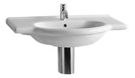 Whitehaus TOP62-1H China Nizza China Vanity Basin Single Faucet Hole (TOP62-1H)