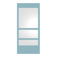 Whitehaus WHE11-MATTE New Generation Mirror with Laminated Colored Glass Border (WHE11-MATTE)