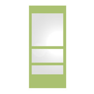 Whitehaus WHE11-YELLOW New Generation Mirror with Laminated Colored Glass Border (WHE11-YELLOW)