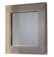 Whitehaus WHE5B New Generation Square Mirror with Stainless Steel Frame (WHE5B)
