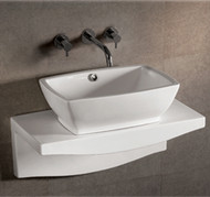 Whitehaus WHKN1065-1116 Isabella Rectangular Basin with Matching Wall Mount Counter Top (WHKN1065-1116)