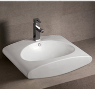 Whitehaus WHKN1098 Isabella Bath Basins Rectangular Above Mount Basin with Integrated Oval Bowl (WHKN1098)